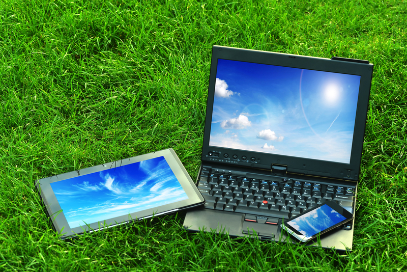 Computer-Tablet-Phone-on-Grass