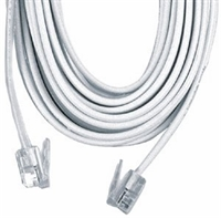 GE Phone Line Cord, 25 Ft. (White)